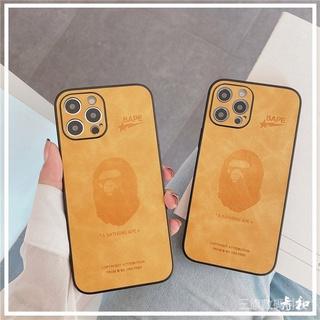 超手感皮殼BAPE猿人頭適用12promax蘋果12保護殼潮牌xsmax全包iphone11網紅情侶男7/ 8plus硅膠