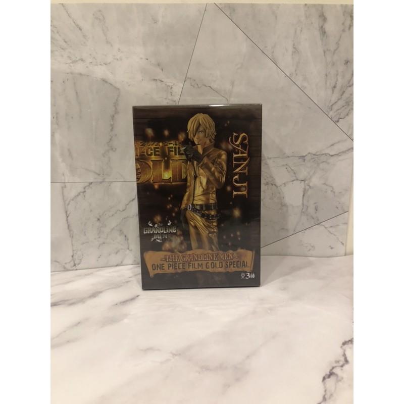 🎭無證🎭台灣🇹🇼現貨🎭航海王 海賊王 黃金城金衣 「香吉士 」GOLD 人偶盒裝 公仔擺件