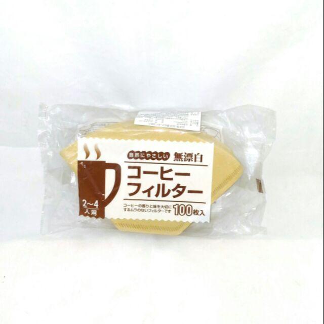 日本製咖啡濾紙2~4人 100入 適用梯型