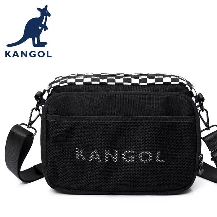 KANGOL 英國袋鼠 側背包/斜背包 6055300120 黑色