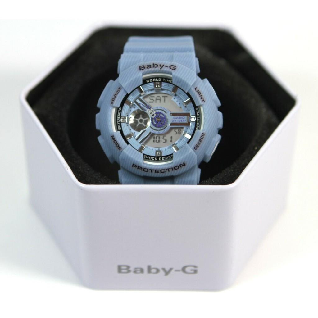 Casio卡西歐女款藍色手錶Baby-G BA-110DC