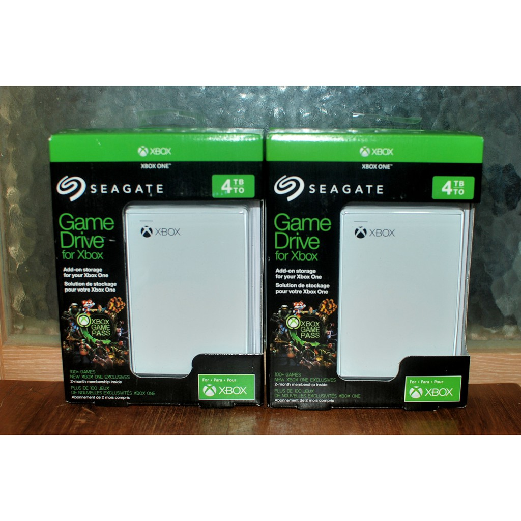 Seagate for Xbox One /One X 4TB 2.5吋外接式行動硬碟 game pass白色款