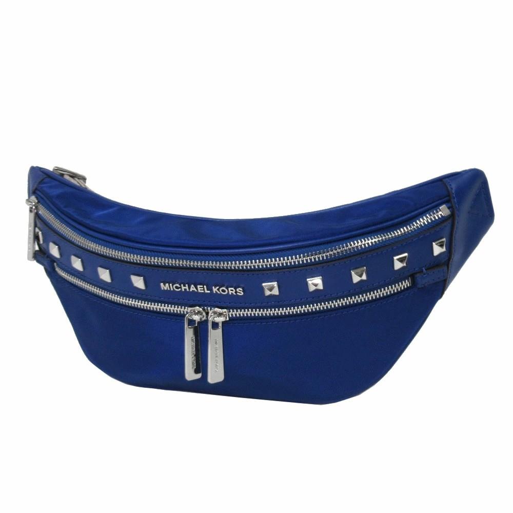 MICHAEL KORS 腰包 胸前包 輕量防潑水尼龍 腰包 側背包 單肩包 胸包 M36254 藍色MK 廠商直送