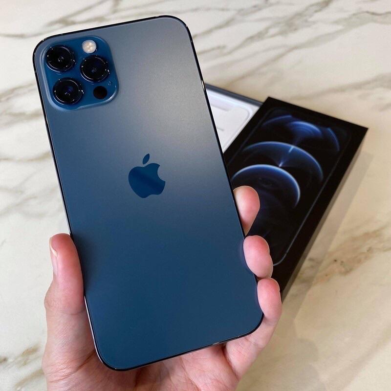 iPhone 12 Pro Max 256GB 太平洋藍 (二手/保固內/無刮傷) 【 限平鎮/中壢面交 】