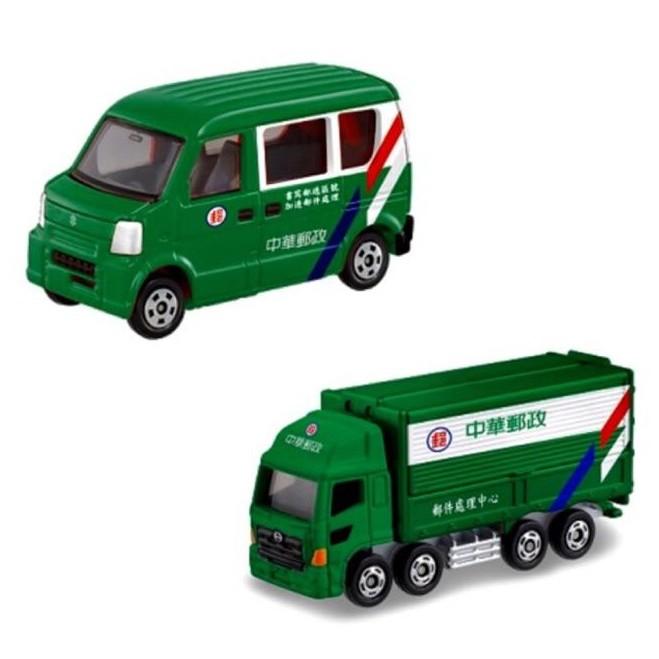 tomica 多美 臺灣限定 中華郵政雙車組 郵務車 郵政車