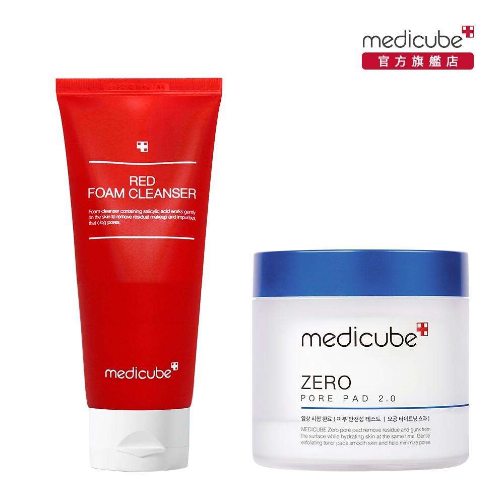 【medicube】ZERO 毛孔爽膚棉2.0 (升級版)+RED抗痘潔面乳120ml