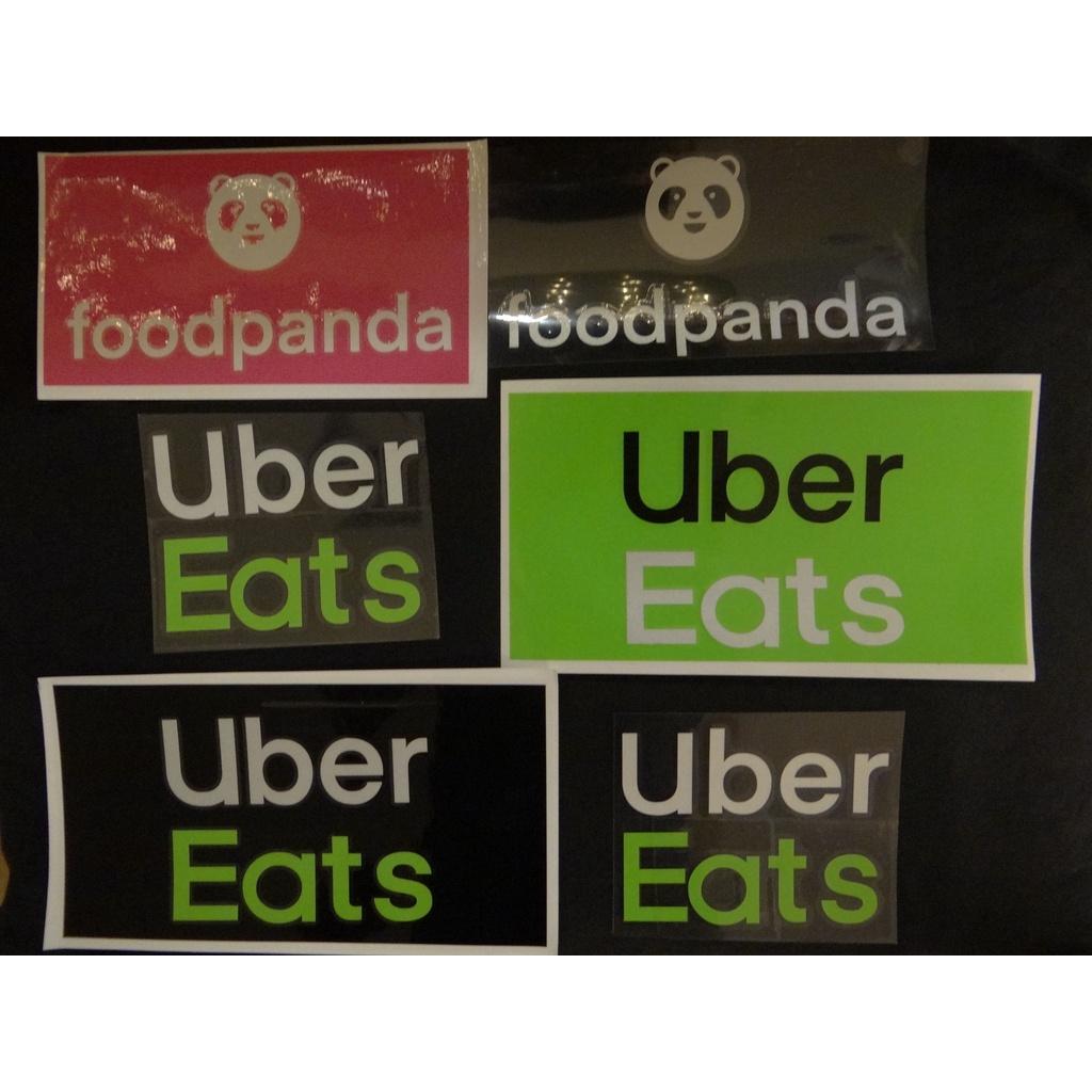 foodpanda 熊貓 uber Uber Eats ubereats 貼紙 外送 車貼 現貨 反光轉貼貼紙