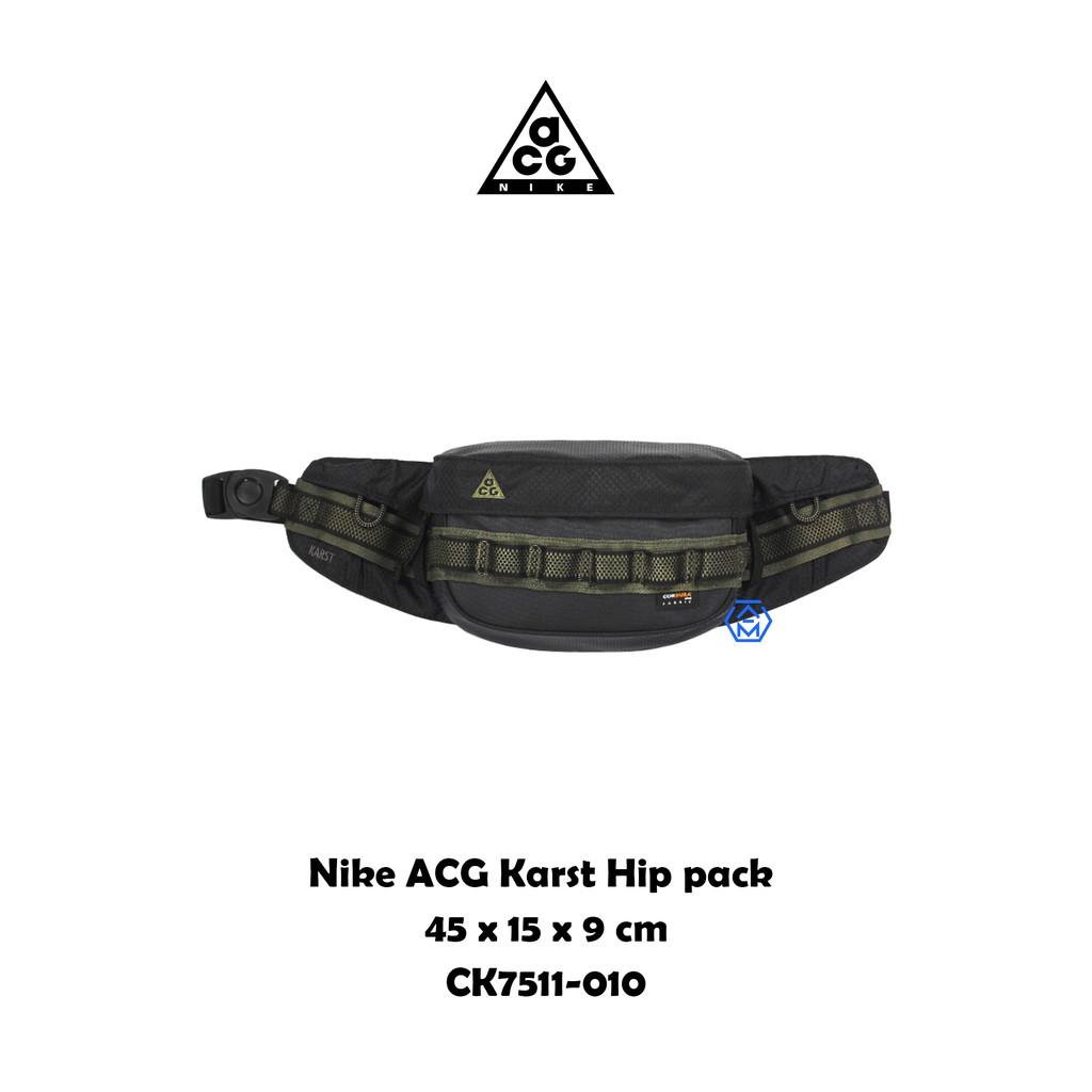 NIKE ACG Karst 黑 軍綠 工裝 戰術 機能 腰包 肩背包 CK7511-010