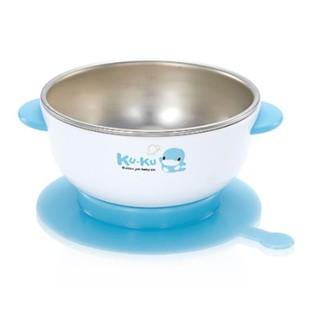 【快樂安森】 KU.KU Duckbill 酷咕鴨 不銹鋼隔熱吸盤碗