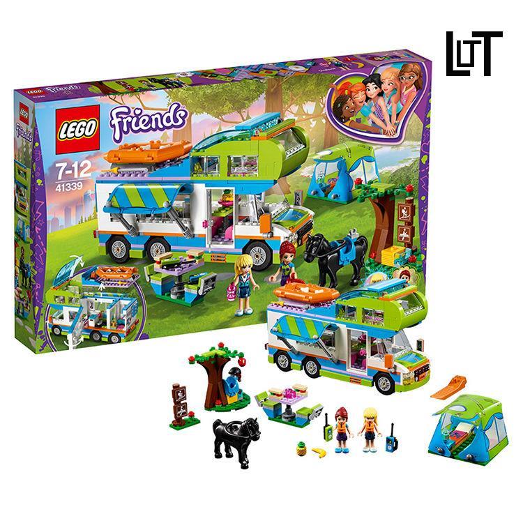 LT 兼容樂高好朋友系列41339米婭的野營車  Friends兒童女孩積木玩具❤