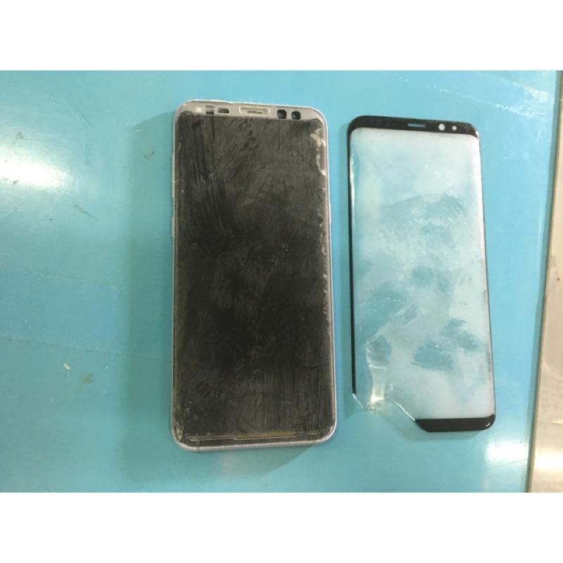 三星曲面玻璃維修  S8 S8+ S9 S9 S10 S10 S10+ NOTE8 9 需螢幕顯示觸碰正常