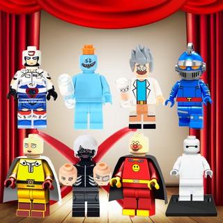 兼容樂高卡通動漫電影 Minifigures 鋼鐵俠 28 Fx Baymax 先生 Meeseeks Popeye T