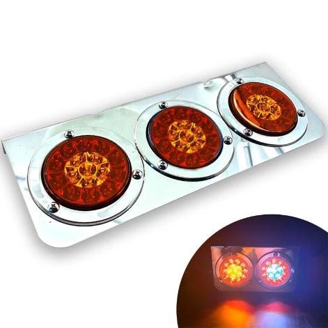 『 W.S嘉義之光』三圓後燈 電鍍尾燈 24V 爆亮LED後燈 煞車燈/方向燈/警示燈 卡車 貨車 砂石車 聯結車 重車