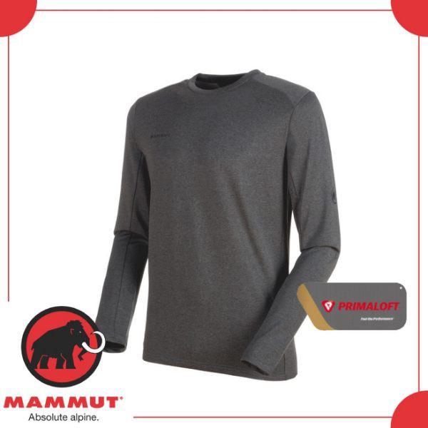 MAMMUT 男 Runbold ML Crew Neck 《黑》/00620-0033/長袖圓領/休閒衫/上衣