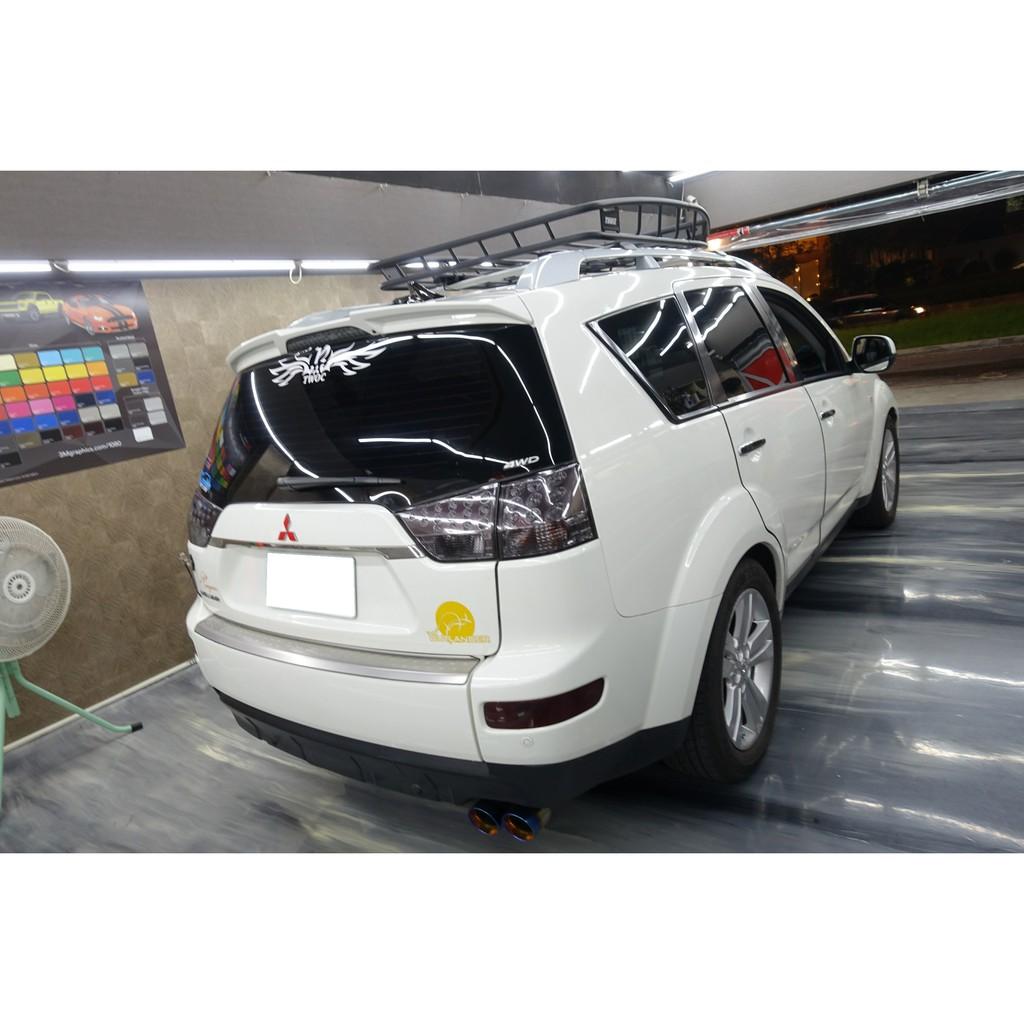 三菱 Mitsubishi Outlander  前後燻黑燈貼膜 大燈貼膜 尾燈貼膜 Lancer 日蝕 evo