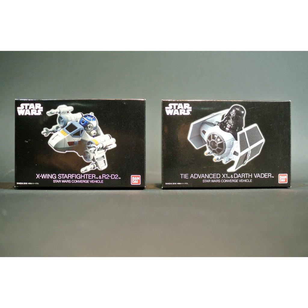 參號倉庫 現貨 Bandai 星際大戰 盒玩 R2D2 R2-D2 + X翼戰機 + 黑武士 + 鈦戰機 達斯維達