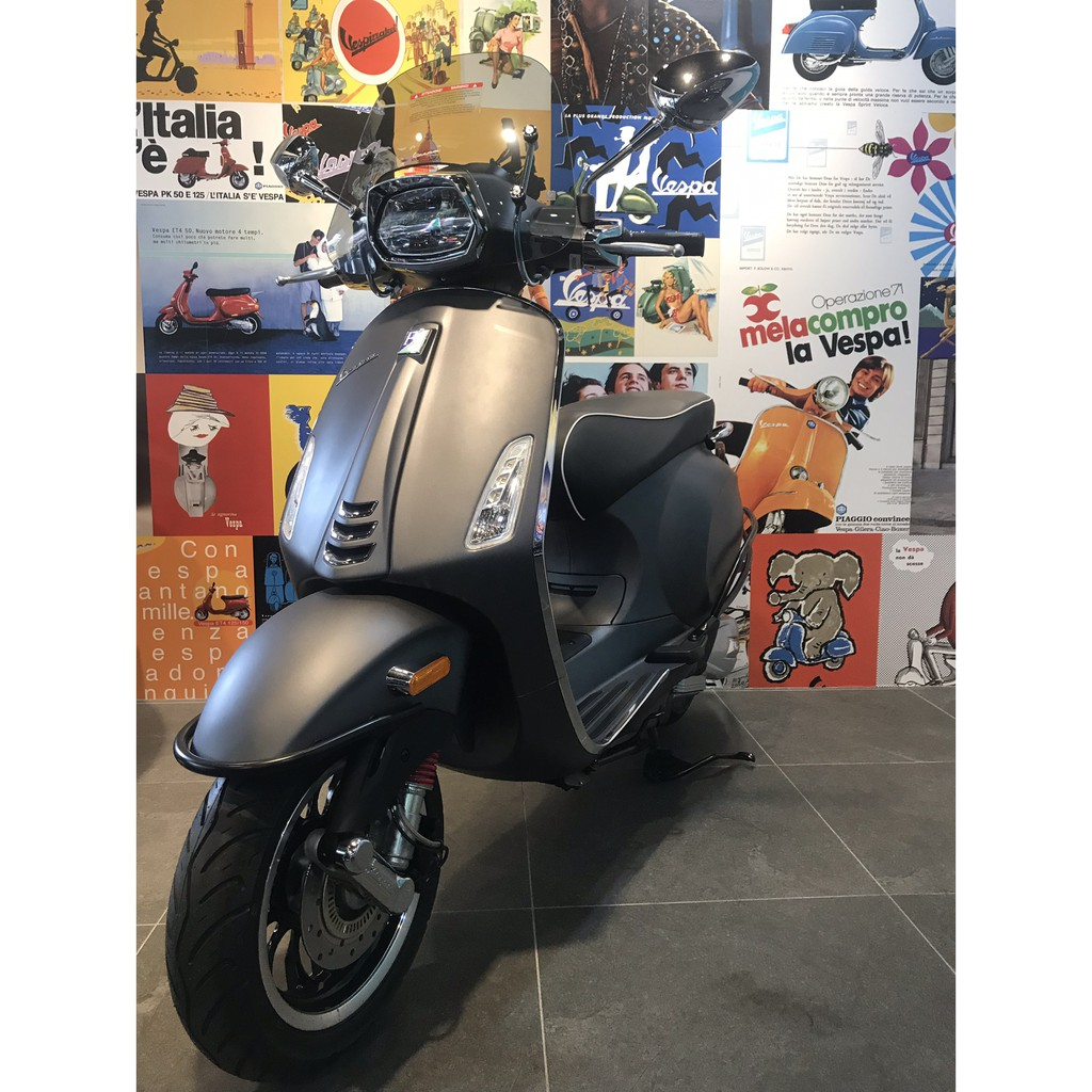 VESPA Sprint125 ABS S版本 衝刺 消光灰【新北板橋旗艦店】【台北萬華店】