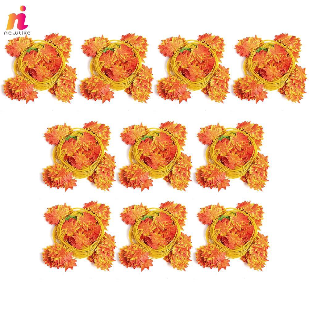 人造楓葉花環絲綢秋季秋天的葉子DIY家居裝飾工藝