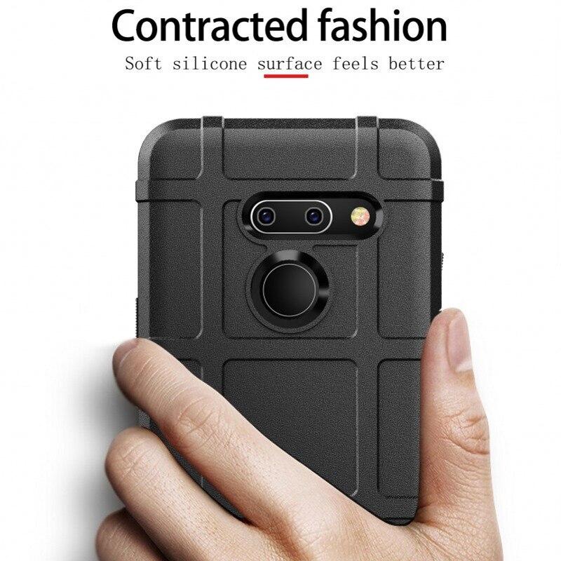 LG G8 ThinQ保護殼防震簡單裝甲堅固護罩軟保護套適用於 LG V50 ThinQ G8保護殼矽膠保險槓手機保護套