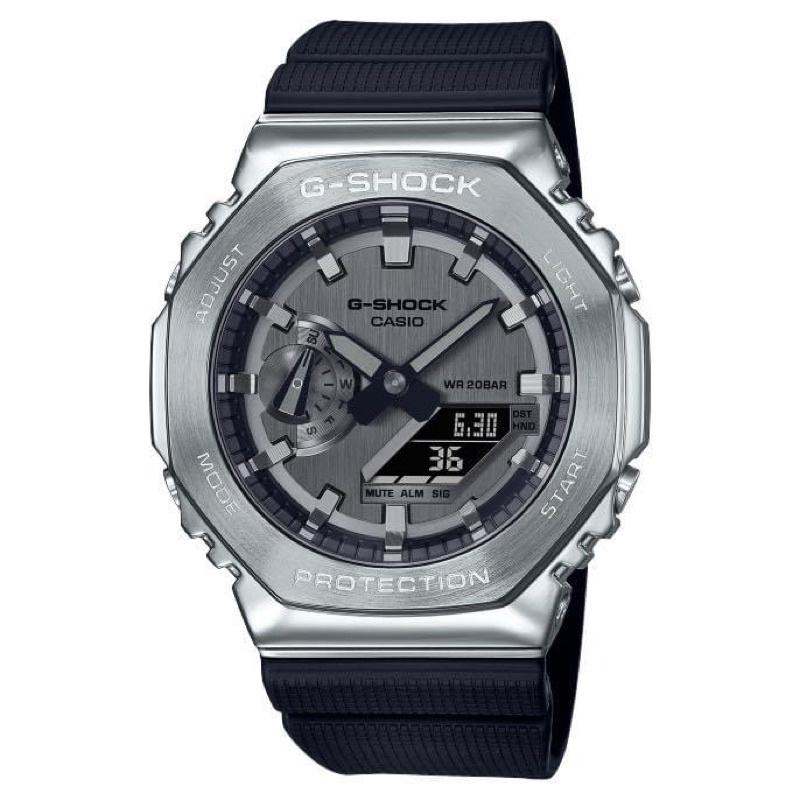 CASIO 卡西歐 G-SHOCK GM-2100-1A  銀-農家橡樹 GA2100 手錶 男錶女錶