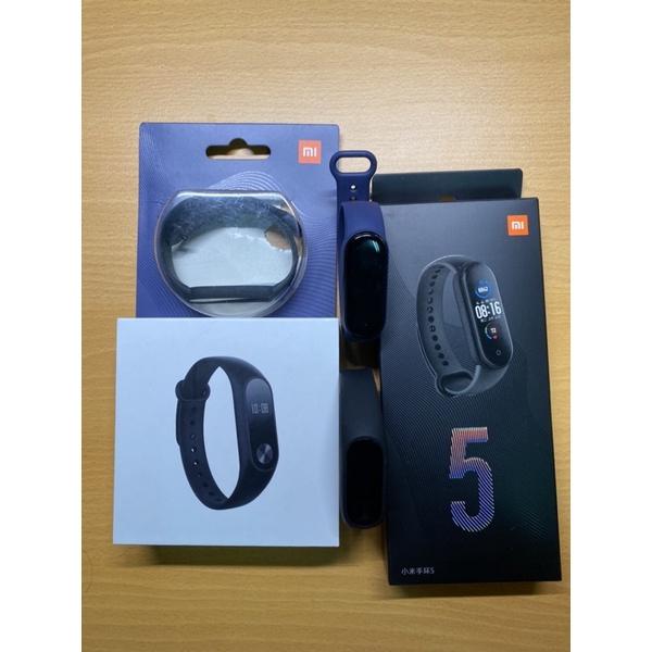 小米手環5 含盒裝配件 贈原廠深藍錶帶、小米手環2