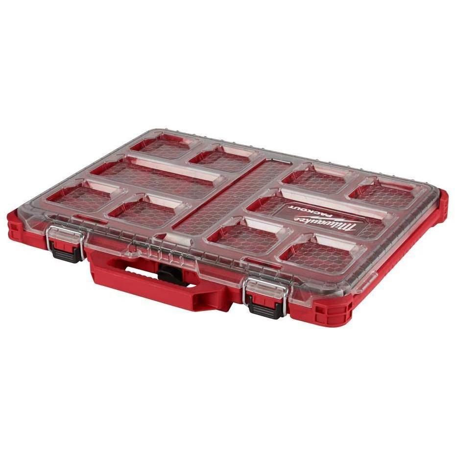~工具小妹~ Milwaukee 米沃奇 48-22-8431 配套智能 收納箱 工具箱 零件盒 堆疊箱 手提箱(薄大)