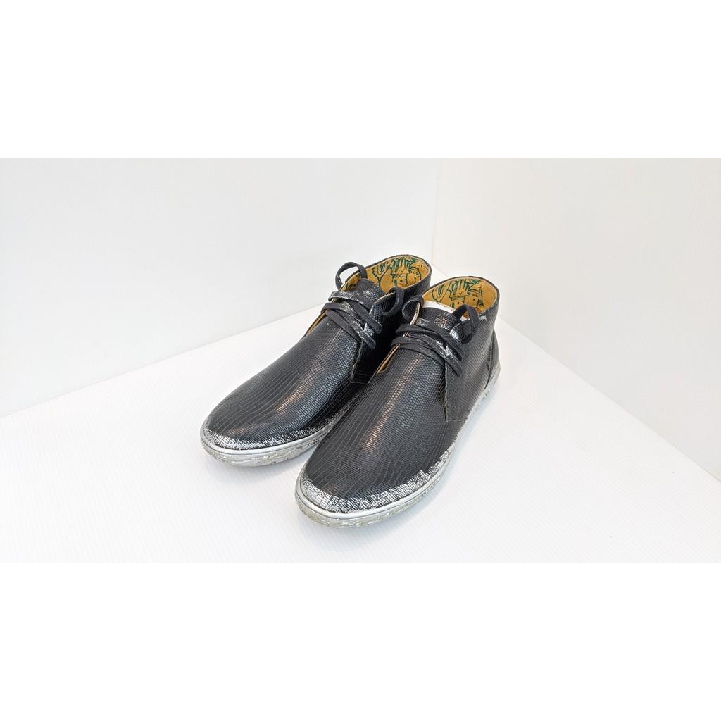 [鸚鵡鞋鋪]超優惠出清!零碼22 MACANNA麥坎納 單純黑真皮短筒休閒鞋