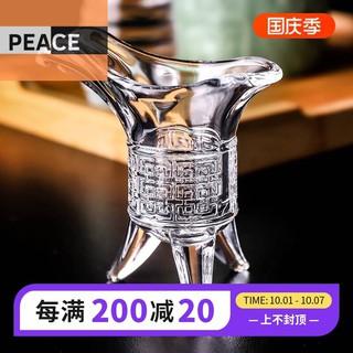 爵杯古代仿古酒杯帝王杯三足鼎杯中式三角創意白酒杯玻璃小三腳杯 屏東縣