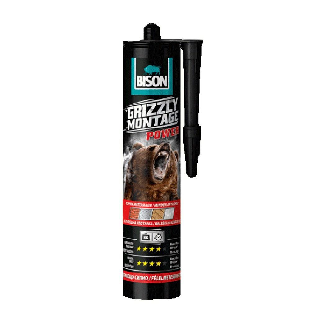 BISON 灰熊 10秒快速接著強力萬用膠 370g 室內用 白色