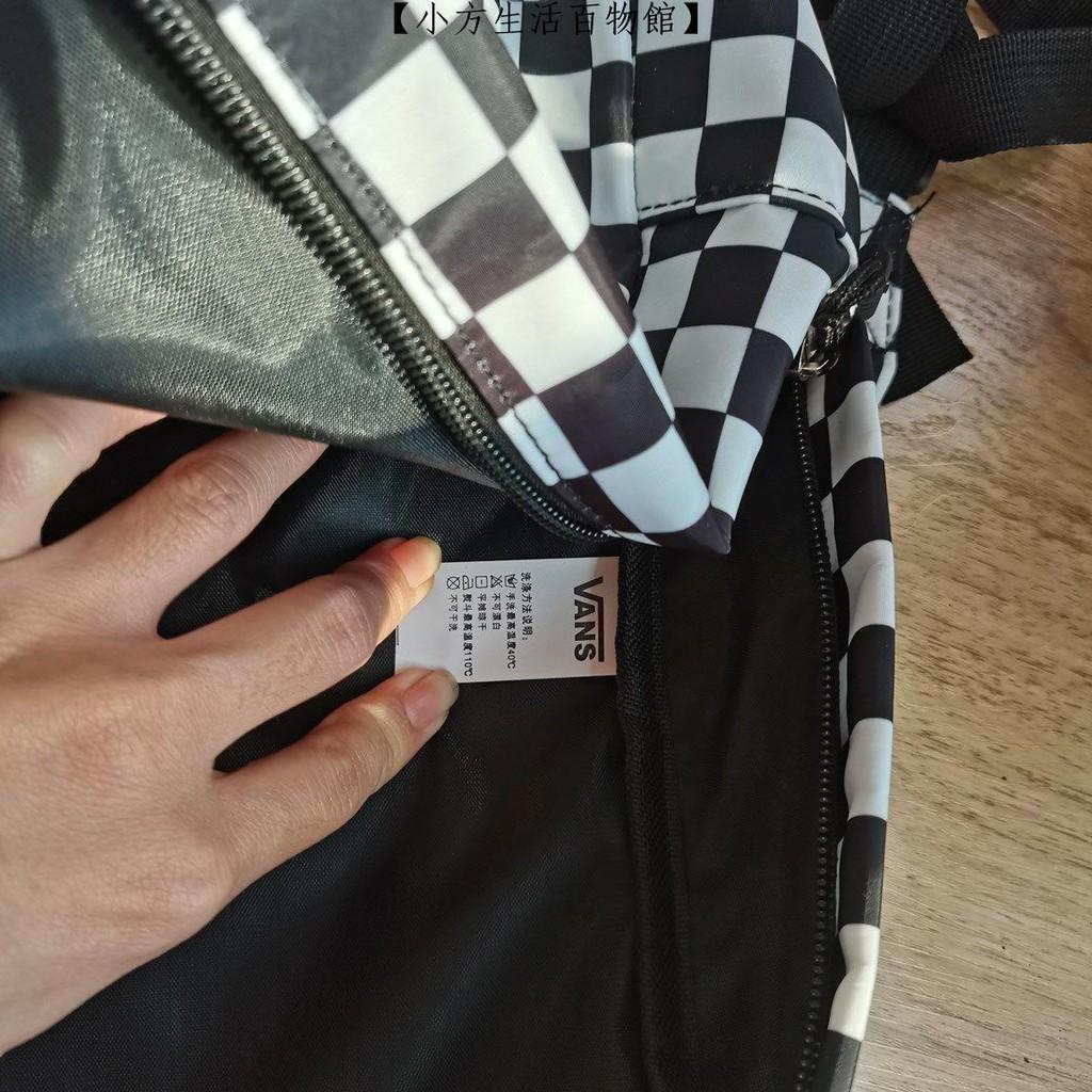 【小方生活百物館】vans 後背包 vans包 新款 萬斯 黑白書包 黑白棋盤背包 萬斯格子 雙肩包 休閒 學生包 男