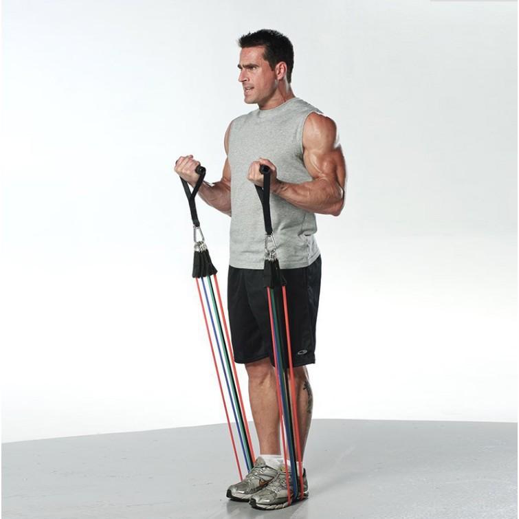 *清新生活馆*#熱銷彈力繩拉力器家用多功能擴胸肌臂力鍛煉彈力帶男女阻力帶健身器材
