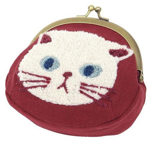 喬依絲日貨現貨日本 貓咪 零錢包 錢包 珠扣包 口金包