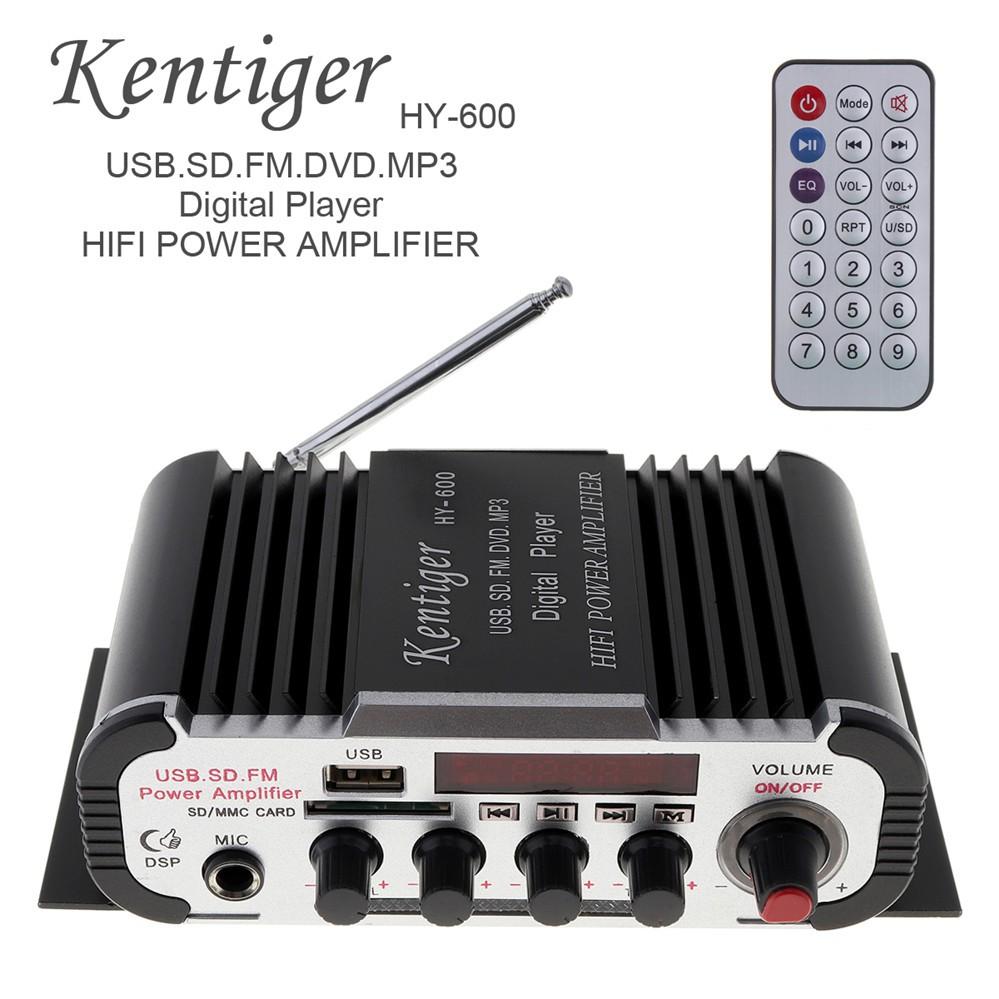 ~現貨~HY-600 卡拉OK麥克風擴大機 家用 車載 手機 電腦 USB/SD/FM AUX 多功能擴大機