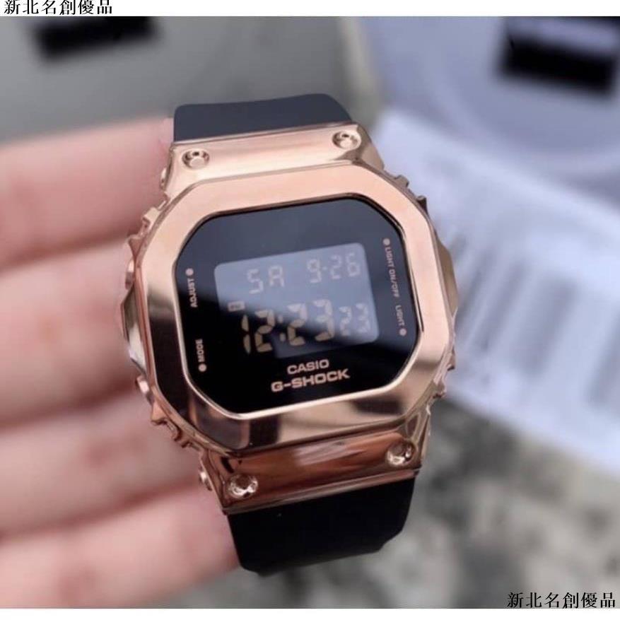 🚩卡西歐 G-Shock Gm-S5600 女士手錶不銹鋼手錶 Gshock 防水女士手錶女士男士手錶🚩