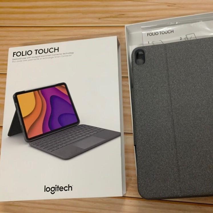 羅技Folio Touch適用2020 ipad air4 10.9觸控板 妙控藍牙鍵盤