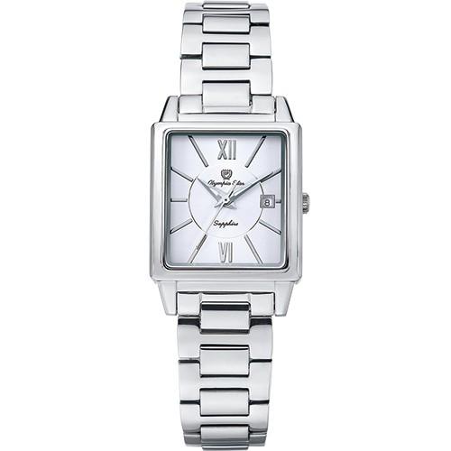 【Olympia Star奧林比亞之星 】經典時尚羅馬方型女錶-銀 58065LS<母親節限時優惠>