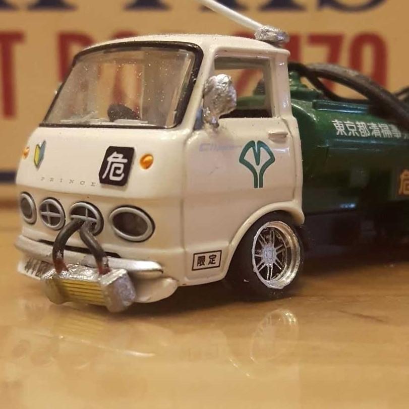 [二改商品] 1/64 Tomica Limited Vintage 東京都清掃水肥車 改輪圈