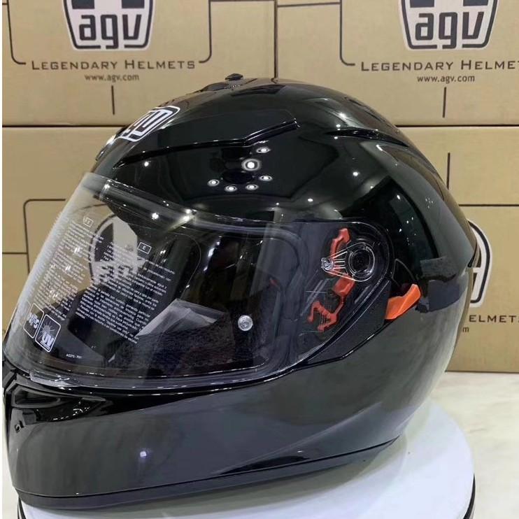 義大利 AGV K-1 K3 K5系列 新款 亞洲獨售 內襯可拆 全罩安全帽\亮黑 K3SV 機車帽 頭盔