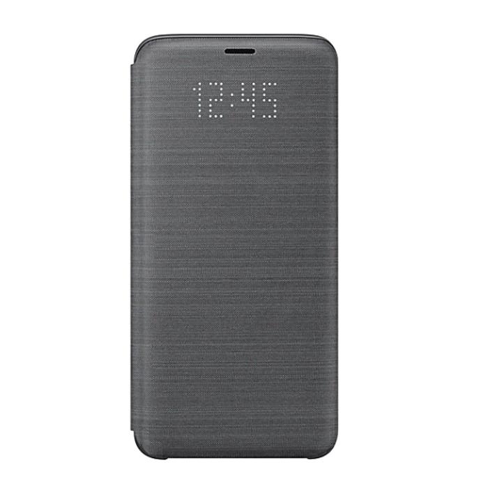 Samsung Galaxy S9 原廠LED皮革翻頁式皮套 5.8吋用(EF-NG960)三星原廠盒裝-黑色