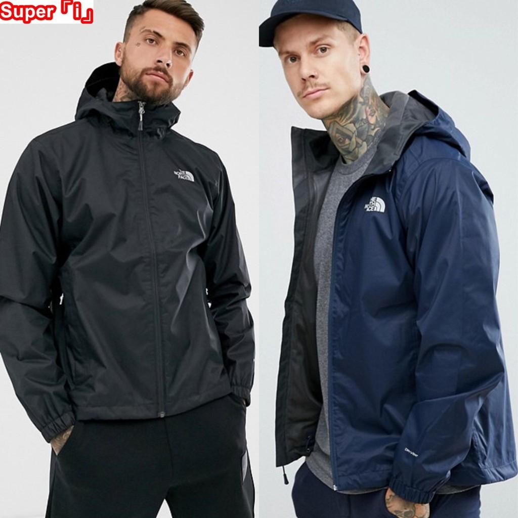 「i」【現貨】The North Face 黑/藍/軍綠 Quest Jacket 網格內裡 防風雨 連帽夾克 風衣外套