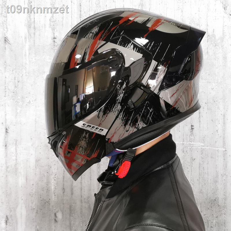 【蝦皮熱賣】☃Orz電動車頭盔男揭面盔雙鏡片半盔安全帽個性四季機車頭灰女