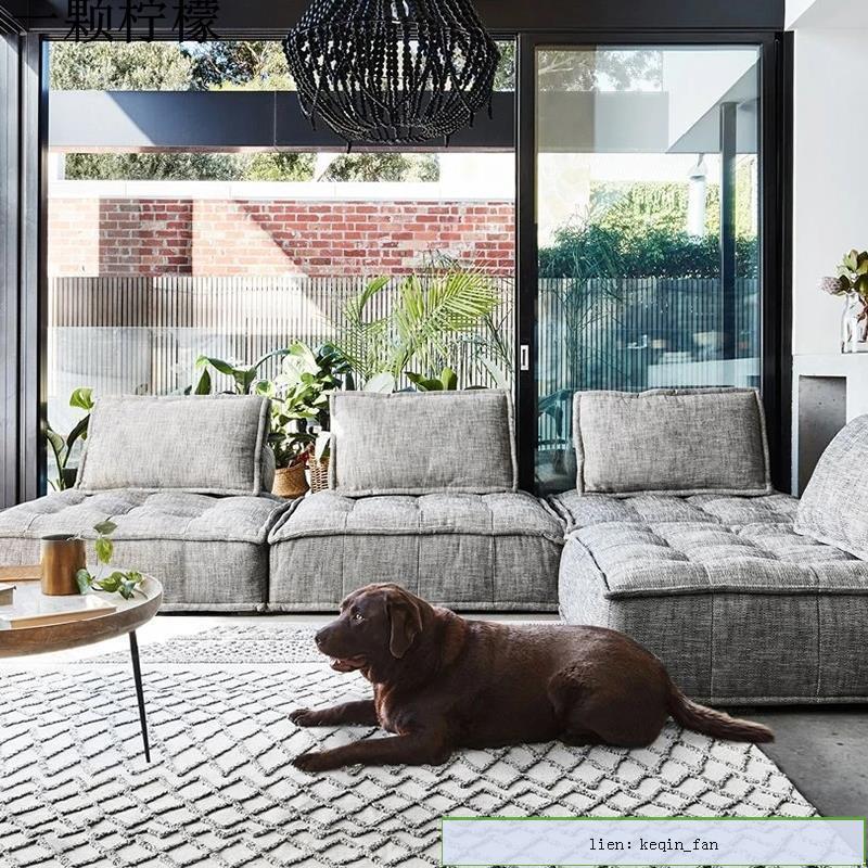 免洗科技布現代豆腐塊工業風輕奢意式皮埃蒙特方塊客廳懶人大沙發