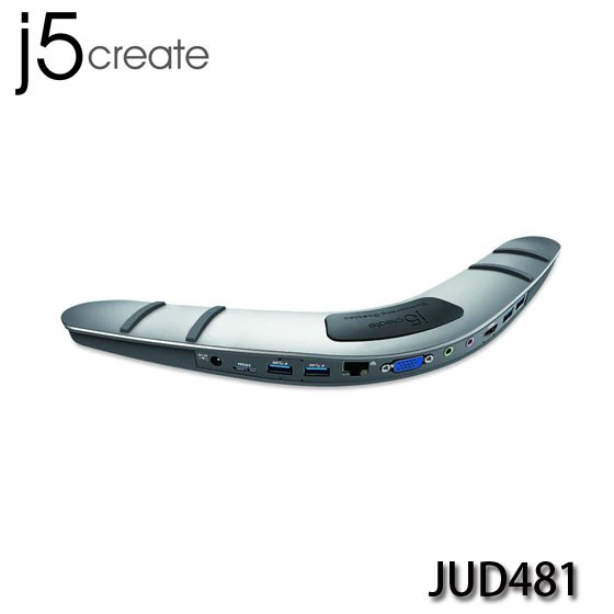 【3CTOWN】可議價 含稅開發票 j5 create JUD481 USB3.0迴力鏢筆電擴充基座