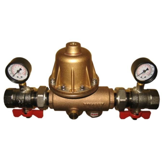 [寶閥精密] 台製 家用自來水減壓閥直通式-青銅 DN25 (1吋 / 8分) 穩壓減壓 大流量可自行調壓式