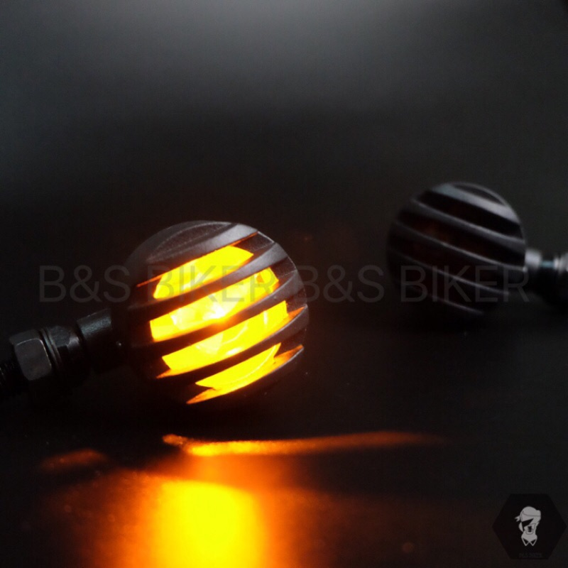 [B&S]現貨復古 金屬材質 柵欄 方向燈 黃色方向燈 my150 狼R ktr 野狼 狼傳 愛將 雲豹 brat 金旺