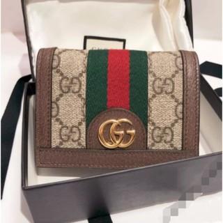 『二手Shopping Time』GUCCI 古馳 523155 Ophidia GG Card Case 短夾 綠紅綠 桃園市