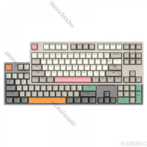 【熱賣爆款】ikbc復古系列機械鍵盤櫻桃cherry87紅茶青軸有線W210無線 T3Va u2Xw