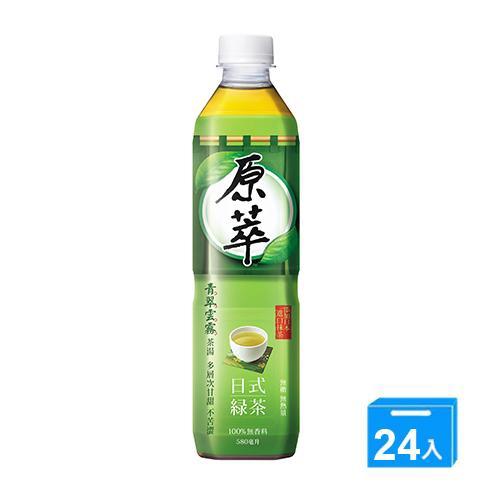 原萃日式綠茶580mlx24入/箱【愛買】