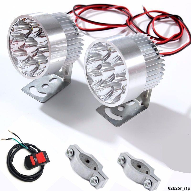 電動車燈超亮電瓶車三輪摩托車前大燈貨車LED射燈改裝外置燈強光【強光超亮】#