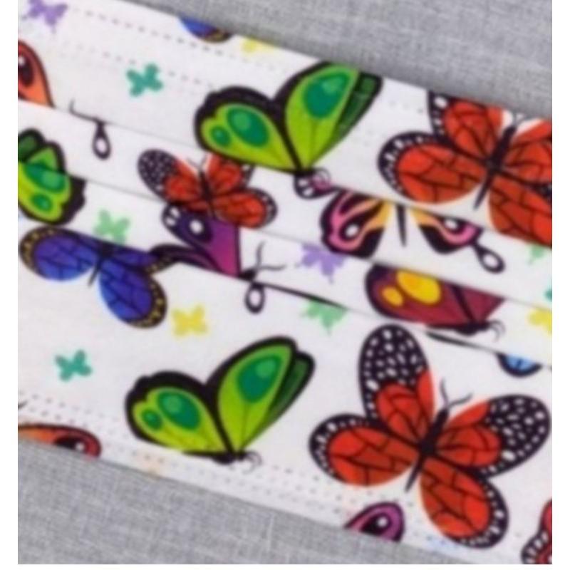 🔥現貨 熱賣🔥【蝴蝶】口罩  🎀蝴蝶系列🎀 彩蝶 (多彩 )口罩  印花口罩  (非醫用)  成人款